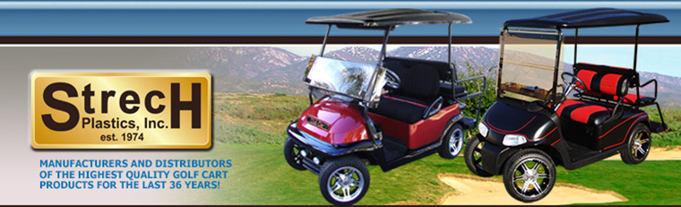 strech plastics wholesale golf cart accessories